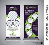 roll up brochure flyer banner... | Shutterstock .eps vector #657179689