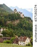 gutenberg castle in vaduz ... | Shutterstock . vector #657183274