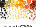 Overhead View Of Whole Fruits...