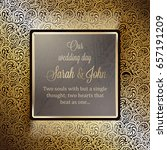 invitation card or background... | Shutterstock .eps vector #657191209