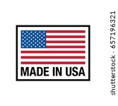 vector made in usa sign | Shutterstock .eps vector #657196321