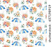 lovely seamless pattern with... | Shutterstock . vector #657198919