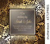 invitation card or background... | Shutterstock .eps vector #657199801