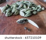 close up of a cardamom pod open ... | Shutterstock . vector #657210109
