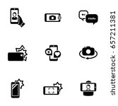 set of simple icons on a theme... | Shutterstock .eps vector #657211381