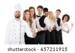 confident young restaurant... | Shutterstock . vector #657211915