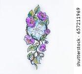 sketch beautiful violet...   Shutterstock . vector #657211969