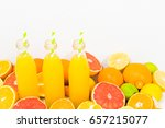 citrus lemonade in three... | Shutterstock . vector #657215077