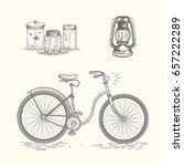 summer vintage illustrations | Shutterstock .eps vector #657222289