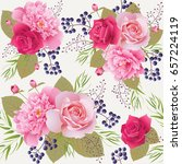 seamless floral pattern with... | Shutterstock .eps vector #657224119