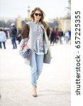 paris march 9  2015. street... | Shutterstock . vector #657225355