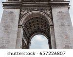 arc de triomphe de l'etoile on... | Shutterstock . vector #657226807