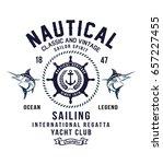vintage sailor typography for t ... | Shutterstock .eps vector #657227455