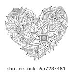 Vector Monochrome Floral...