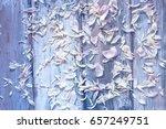 flower pattern of white  petals ... | Shutterstock . vector #657249751