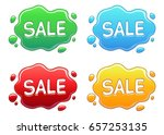 set of  color puddles with sale ... | Shutterstock .eps vector #657253135