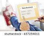 new startup business venture... | Shutterstock . vector #657254011