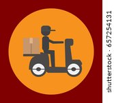 delivery package icon in trendy ...