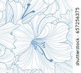 floral seamless pattern. flower ... | Shutterstock .eps vector #657256375