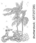 motor scooter doodle in nice... | Shutterstock .eps vector #657257281