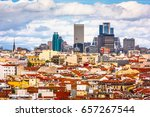 madrid  spain cityscape view. | Shutterstock . vector #657267544