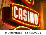 casino sign in las vegas   las... | Shutterstock . vector #657269131