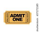 yellow admit one ticket... | Shutterstock .eps vector #657272185