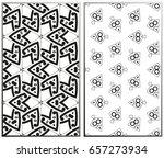vector monochrome seamless... | Shutterstock .eps vector #657273934