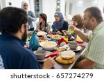 family and friends gathering... | Shutterstock . vector #657274279