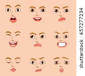 facial expressions for female... | Shutterstock .eps vector #657277234