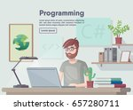 banner programming and coding.... | Shutterstock .eps vector #657280711