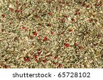 Spices for making special fish soup at a spice trade - stock photo