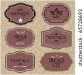 art set of vector vintage frame ... | Shutterstock .eps vector #65728693