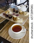 afternoon tea with cakes | Shutterstock . vector #657289081