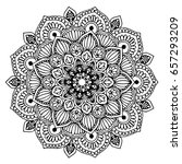 mandalas for coloring book.... | Shutterstock .eps vector #657293209