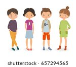 stylish boys and girls. cartoon ... | Shutterstock .eps vector #657294565