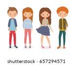 fashion kids. cartoon style... | Shutterstock .eps vector #657294571