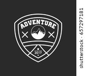 adventure badge graphic design... | Shutterstock .eps vector #657297181