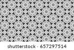 black and white ornament for... | Shutterstock . vector #657297514