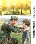 father talking to son | Shutterstock . vector #6573031