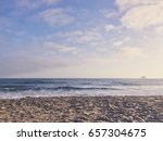 Small Waves And An Oil Rig In...