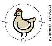 stylized vector chicken hen  ...   Shutterstock .eps vector #657307825