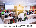 forex. stock chart. blur people ... | Shutterstock . vector #657311017