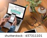 join register newsletter to... | Shutterstock . vector #657311101