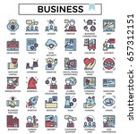 business icons fill with color...