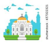 flat design palace of fine arts ... | Shutterstock .eps vector #657322321