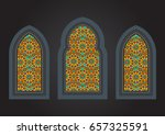 stained glass ancient... | Shutterstock .eps vector #657325591