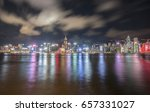hong kong  night view at... | Shutterstock . vector #657331027