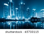 the night view of the lujiazui... | Shutterstock . vector #65733115