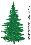 christmas green fur tree ... | Shutterstock . vector #65733217